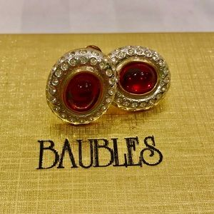 Butler vintage Quality Costume Jewelry, Ruby Gold
